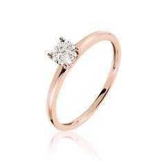 Bague Solitaire Dream Or Rose Diamant