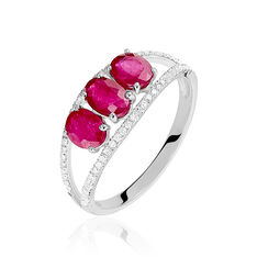 Bague Madeline Or Blanc Trilogie Rubis