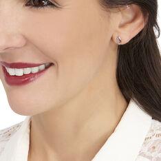 Boucles D'Oreilles Or Rose Et Diamants - Boucles d'oreilles Pendantes Femme   Marc Orian