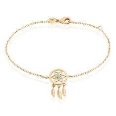 Bracelet Plaque Or Et Pierre