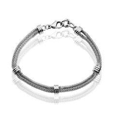 Bracelet Acier Maille Pop Corn Boules - Bracelets chaînes Femme | Marc Orian