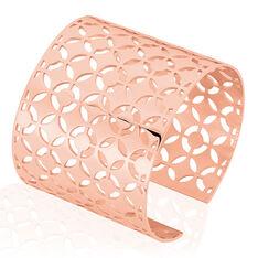 Bracelet Manchette Acier Rose Yelda Motifs Geometriques