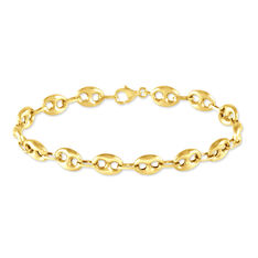 Bracelet Or Jaune Grain De Cafe
