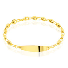Bracelet Identite Bebe Or Jaune Fabie