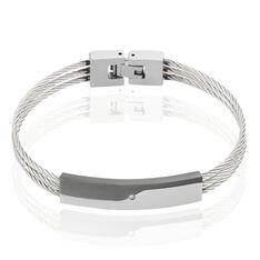 Bracelet Acier Oxyde De Zirconium Cable
