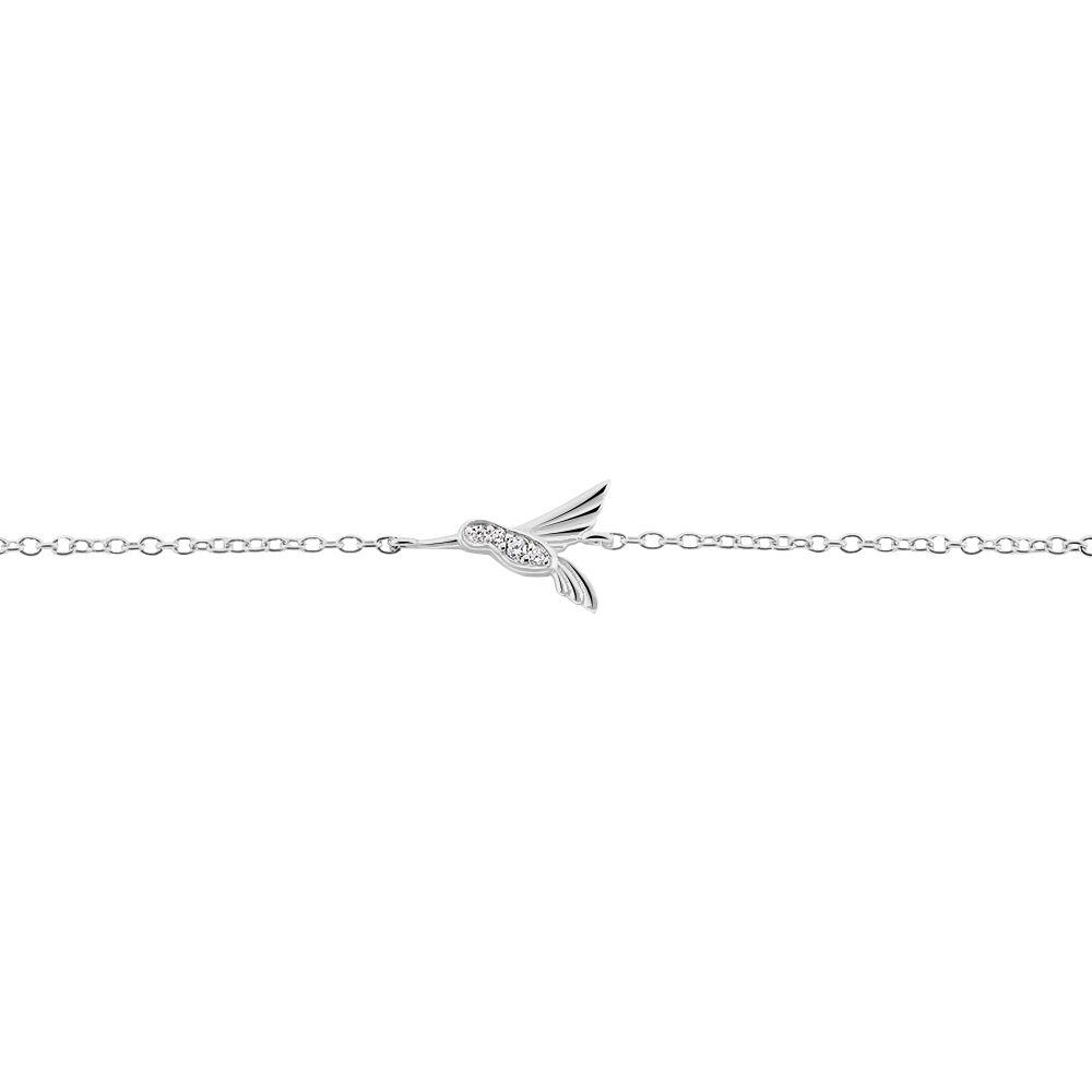 bracelet argent oiseau