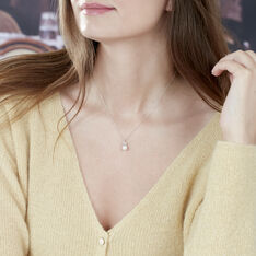 Collier Leonie Or Blanc Et Perles - Colliers Femme | Marc Orian