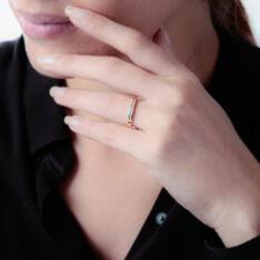 Demi-Alliance Or Et Diamant