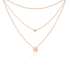 Collier Argent Rose Rhodie Adela Goutte Oxyde - Colliers Femme | Marc Orian