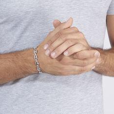 Bracelet Argent Maille Grain De Cafe