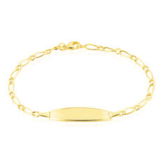 Bracelet Identite Bebe Or Jaune Eudora