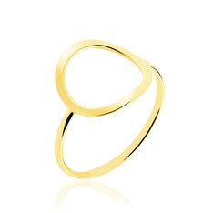 Bague Graphic Chic Or Jaune Cercle