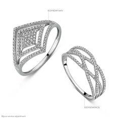 Bague Livia Or Blanc Croise Diamants