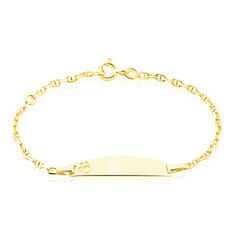 Bracelet Identite Bebe Or Jaune Haina