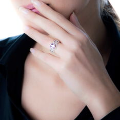 Bague Or Blanc Tina Topaze Centrale