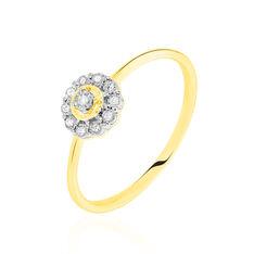 Bague Or Jaune Charletta Diamants Forme Fleur