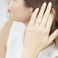 Bague Or Blanc Lily Topaze