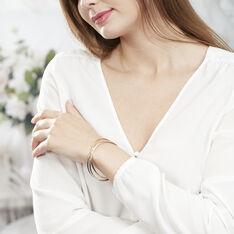 Bracelet Jonc Plaque Or Tricolore
