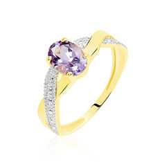 Bague Or Jaune Candice Amethyste