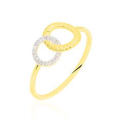 Bague Or Jaune Amanda Cercle Diamant