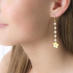 Boucles D'Oreilles Argent Perle Culture