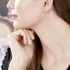 Boucles D'Oreilles Falbala Or Jaune - Boucles d'oreilles Créoles Femme | Marc Orian