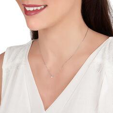 Collier Or Blanc Et Diamants 42cm