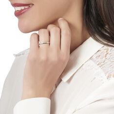 Bague Amani Or Blanc Barrette Diamants - Parure de mariage Femme | Marc Orian