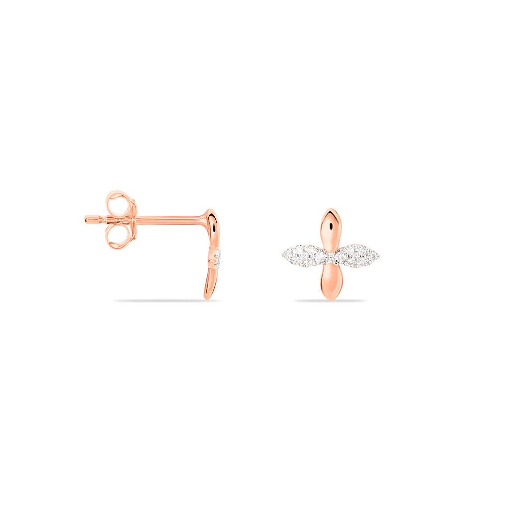Boucles D'Oreilles Or Rose Ginila - Clous d'oreilles Femme   Marc Orian