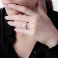 Bague Or Blanc Chou Multipierres Diamants