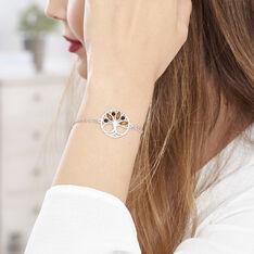 Bracelet Argent Arbre De Vie Ambre