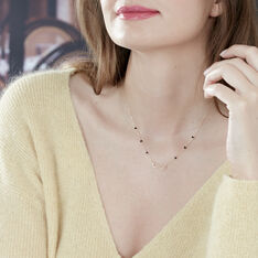 Collier Or Jaune Et Spinelle - Colliers Femme   Marc Orian