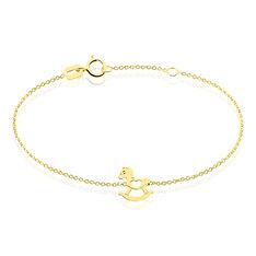 Bracelet Sofia Or Jaune Cheval