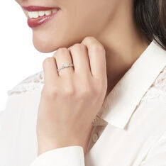 Bague Or Blanc Et Diamants - Bagues Solitaire Femme | Marc Orian