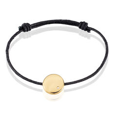 Bracelet Plaque Or Pastille Ronde