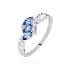 Bague Or Blanc Anisse Saphir Diamant - Bagues Femme | Marc Orian