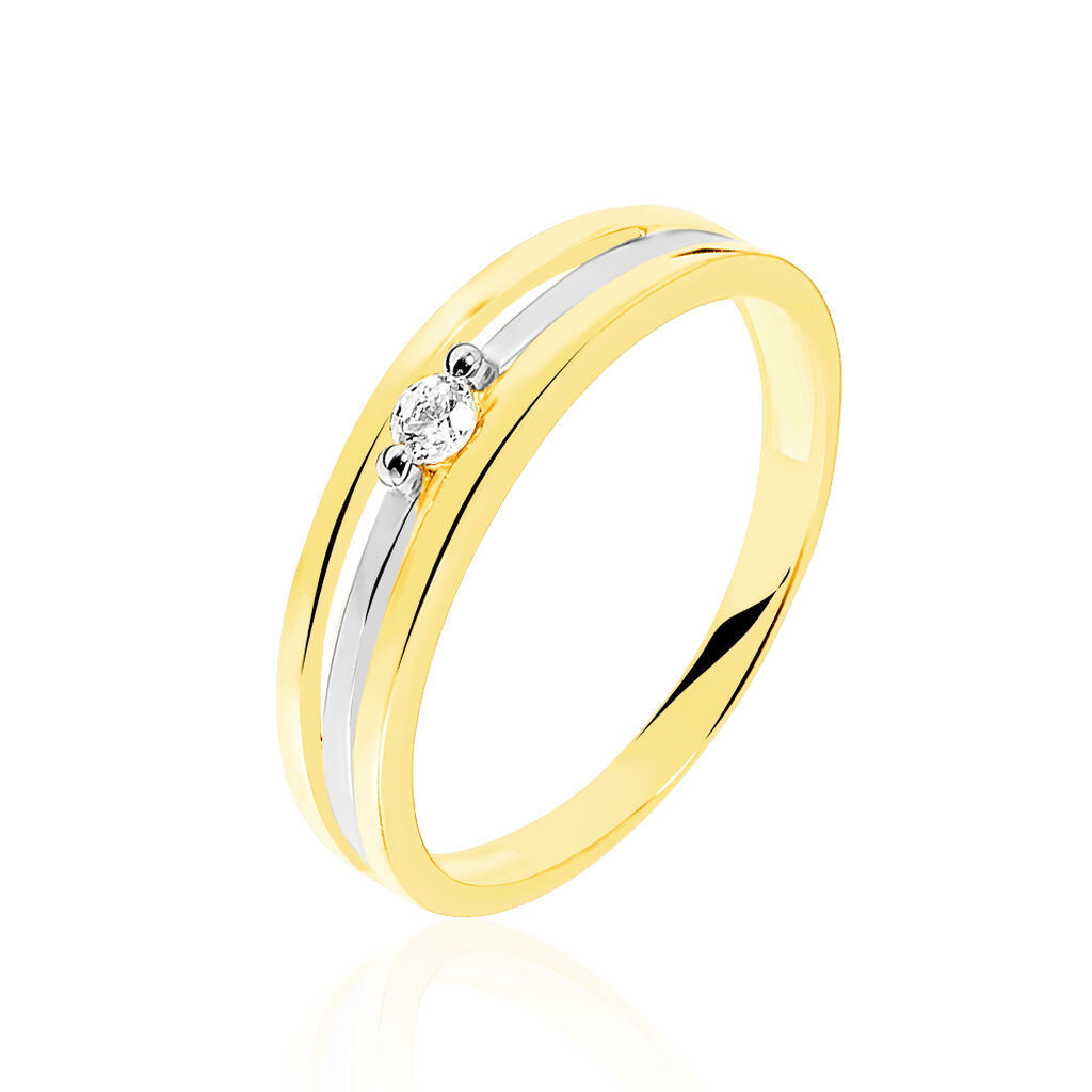 Bague Solitaire Lise Or Bicolore