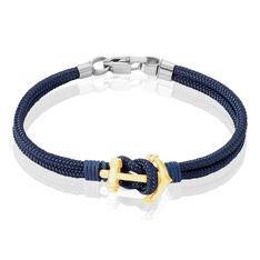 Bracelet Acier Ancre Acier Corde