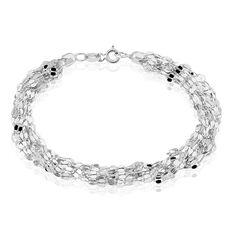 Bracelet Argent Rhodie Multi Rangs