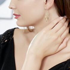 Boucles D'Oreilles Or Jaune Ophira Pendantes - Boucles d'oreilles Pendantes Femme | Marc Orian
