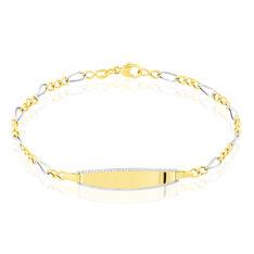 Bracelet Identite Bebe Or Bicolore Mila