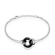 Bracelet Lou Argent  Et Ceramique