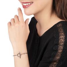 Jonc Argent Rhodie Melissa Cercle - Bracelets fantaisie Femme   Marc Orian
