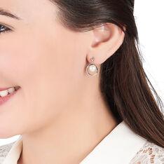Boucles D'Oreilles Argent Cercles Perles