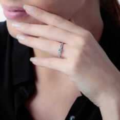 Solitaire Or Blanc Katalina Diamant
