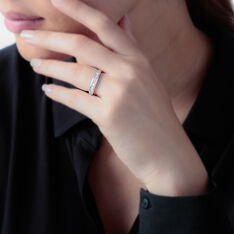 Demi-Alliance Or Blanc Giulia Diamants
