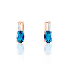 Boucles D'Oreilles London Blue Or Rose