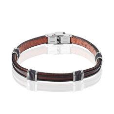 Bracelet Acier Cuir - Bracelets chaînes Homme | Marc Orian