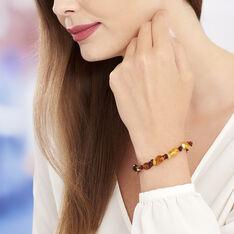 Bracelet Elastique Ambre Multicolore