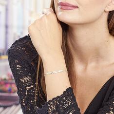 Bracelet Argent Tricolore Maille Tresse
